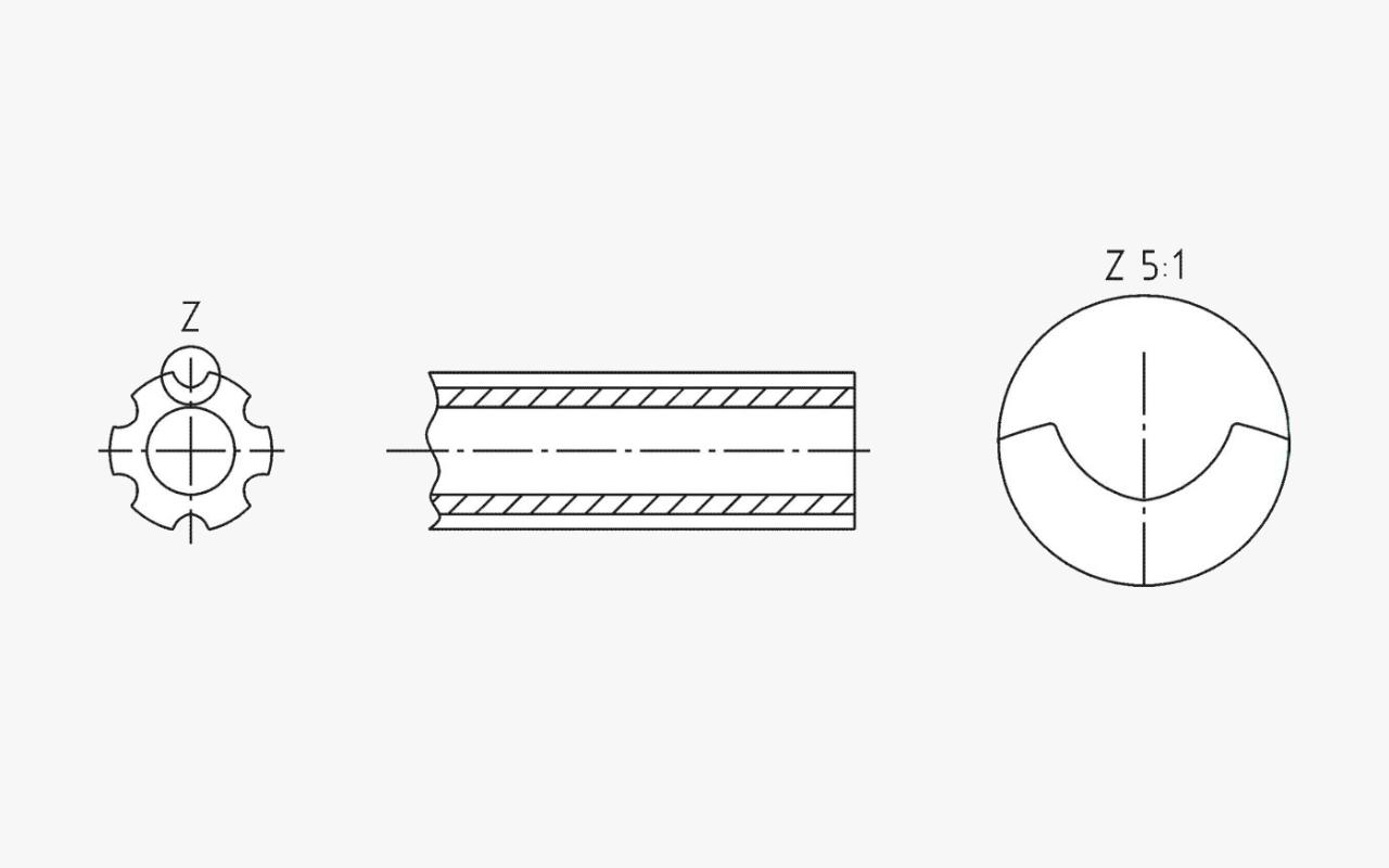 Zeichnung Axialformen